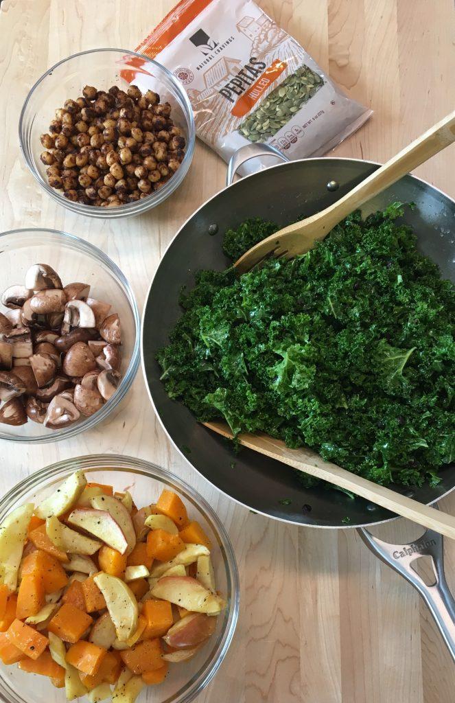 Un repas de légumes en train d'être cuisiné